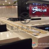 High quality grade Sushi conveyor belt system,Sushi conveyor chain with modular stainless steel slat