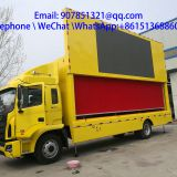 7.6 m outdoor hydraulic stage led advertising truck