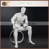 abstract sitting fiberglass male mannequin MARTIN-05 for window display