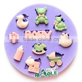 Nicole baby cartoon fondant cake silicon molds