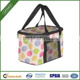 Christmas fashionable dotted lovely insulated insulated bicycle cooler bag,insulated bicycle cooler bag