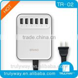 2014 hot selling 5V 8A 6 port USB Charger/Multi-usb charger with ce,fcc,rohs for all smart phones and tablets