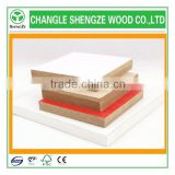 with different thickness white laminated melamine mdf board high quality colorful melamine faced MDF board