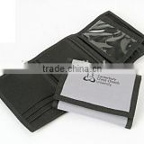Wholesale trifld nylon fabric wallet with custom logo