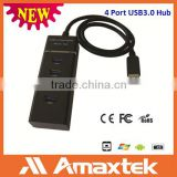 All in one ODM Available 4 Port USB 3.0 Type Hub with Wire & Better Service and Active Support