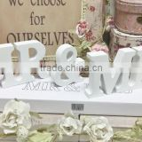 Mr&Mrs Wood Shapes Cutout Signs for Wedding Decoration