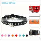 Christmas Gift Leather Dog Pet Collars with Bells
