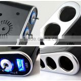 Cigarette lighter 4 holes with cigarette lighter with switch with USB car cigarette lighter car cigarette lighter