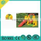 playground equipment baby slide with swing , outdoor small plastic slide