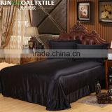 Natural 100% Mulberry King/ Queen Silk black color flat bed Sheet                                                                         Quality Choice