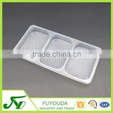 Food grade 3-compartment plastic food packaging tray