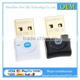 Factory product High power 3Mbps Mini USB CSR4.0 Bluetooth Dongle Dual Wireless Adapter V4.0