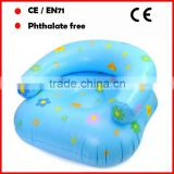 PVC inflatable chairs with flower printing for children