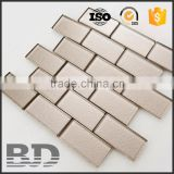 Interior decoration Metallic Mosaic Design cheap glass brick