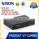 Freesat V7 DVB-S2+T2 Combo Satellite TV Receiver                                                                         Quality Choice