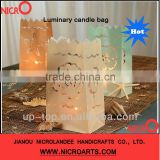 Beach Wedding~~Fireproof wax paper candle bags
