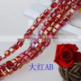 decorative light siam ab jewelry glass beads,clothing decoration crystal beads,wholesales beads