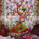 Tree Of Life Wall Hanging Tapestry Hippie Wall Hanging Indian Tapestry Queen Bedspread Throw