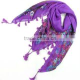 flora printed voile scarves