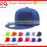 Alibaba China Cap Factory Cheap 6 Panel Snapback Hat Blank OEM Logo Promotion Dance Hip-Hop Snapback Cap