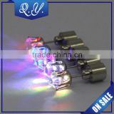 Fashion party club multi-color flashing led earrings,wholesale christmas flashing earrings lighted