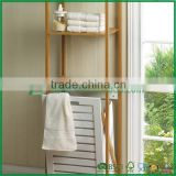 FB7-3017 bamboo Bathroom Towel Clothes Rack hamper shelf                                                                         Quality Choice