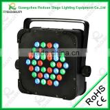 Lowest price!!!High qualityStage Fresnel RGB/RGBW 36pcs Tripar LED flat LED rechargeable RGB par light