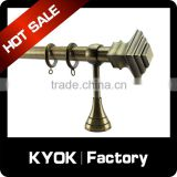 KYOK Sumptuous plexiglass windows part, silver beaded curtain rod, aluminum curved home decoration