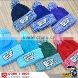 Popular baggy beanie knit with top ball caps