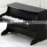 25 key Wooden piano, Black Children wooden piano, Mini child wooden piano toy