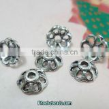 Wholesale 8mm Antique Silver Bead End Caps For Making Jewelry PB-BC010