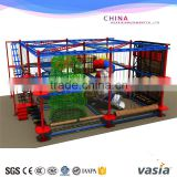 Vasia New indoor high adventure play equipment rope coures with climbing wall                                                                                                         Supplier's Choice