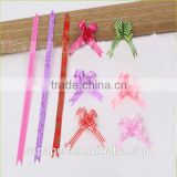 decorative organza pull ribbon bow colorful                                                                         Quality Choice
