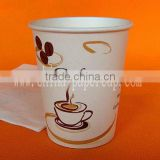 10oz Eur 8oz single wall hot and cold drink cheap paper cups wholesale with lid straws and stirrer