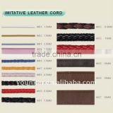 Wholesale Leather Cord,Flat,Round and Braided Imitative Leather Cord,Jewelry Leather Cord