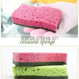 Gold supplier wholesale cleaning scouring pad polyester cellulose sponge                                                                                                         Supplier's Choice