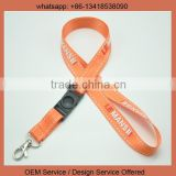 Safety break lanyard metal clip lanyard