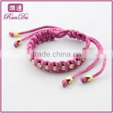 2014China wholesale Wrapped Silk Bracelet with Crystal Fashion Jewelry