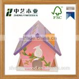 Trade assurance wooden bird feeder garden wooden house Decorative hanging garden wooden house