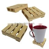 2016 new products handmade custom home decoration cheap natural set of 4 wood coffee coasters
