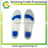 Soft silicone insole custom sizes printed logo rubber insole care your foot
