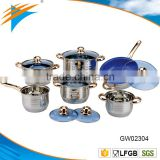 12PC Stainless Steel Cookware Set With Marble Non Stick Coated Fry Pan