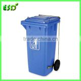 Durable Plastic 120 Liter Garbage Bin with Foot Pedal and Side Wheels                                                                         Quality Choice