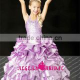 StyleMW0166 New Arrival Organza Crystal Little Girls Ball Gown and Cocktail Dresses For Kids