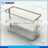 Portable metal 3 tier cosmetic watch sunglass clothes shoes display table glass shop display stand