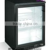 display beer freezer fridge ingle glass door electric 108L custom beer mini fridge,glass door bar fridge