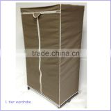 New style home furniture non-vowen fabric folding wardrobe