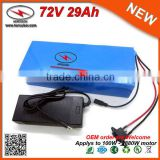 PVC Cased 20S10P 72V Lithium Battery 29Ah 72V Electric Bicycle Battery with DC Battery Charger used in Samsung 29E Cell