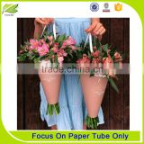 Shaped Pink Paper tube flower shipping boxes/flower bouquet boxes
