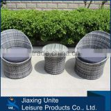 3 pc Outdoor Wicker Rattan Bistro Bar Stool Dining Table Furniture garden Set Black/Brown